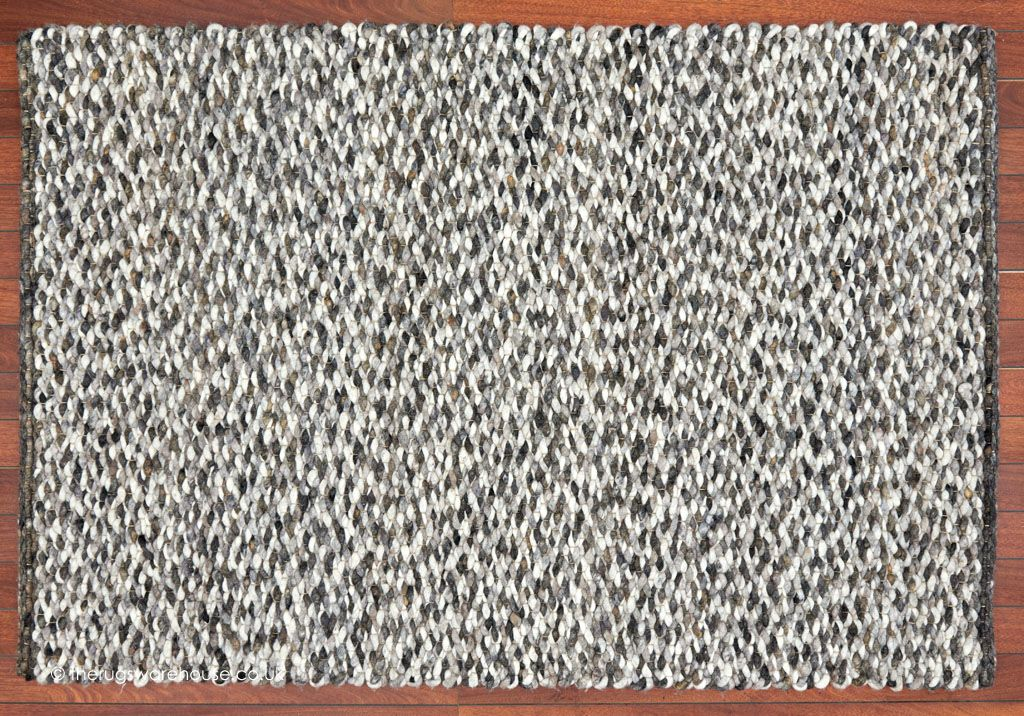 Canberra City Rug A Luxury Felted Wool Chunky Hand Woven With Shingle Like