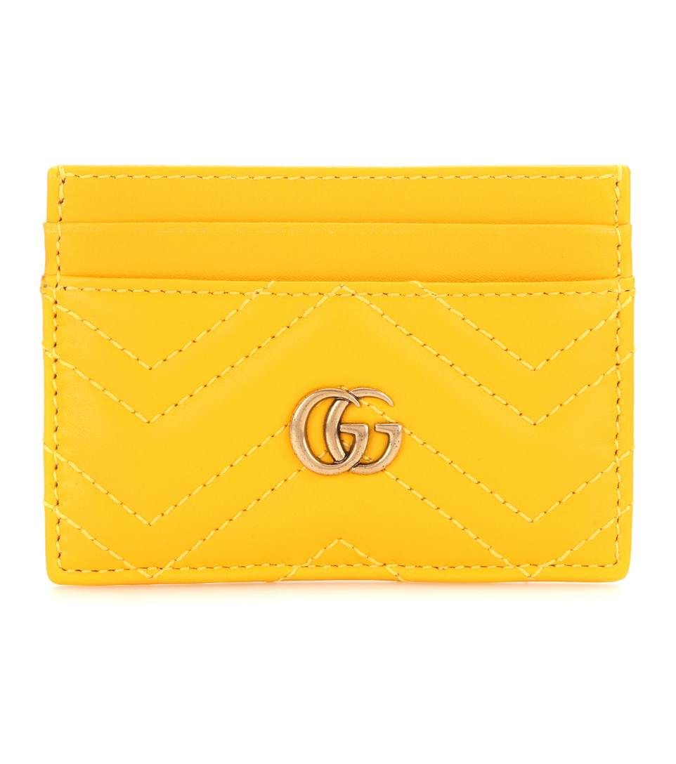 dc17dd2a8ef29 GUCCI Gg Marmont Quilted Leather Cardholder. #gucci #small leather goods