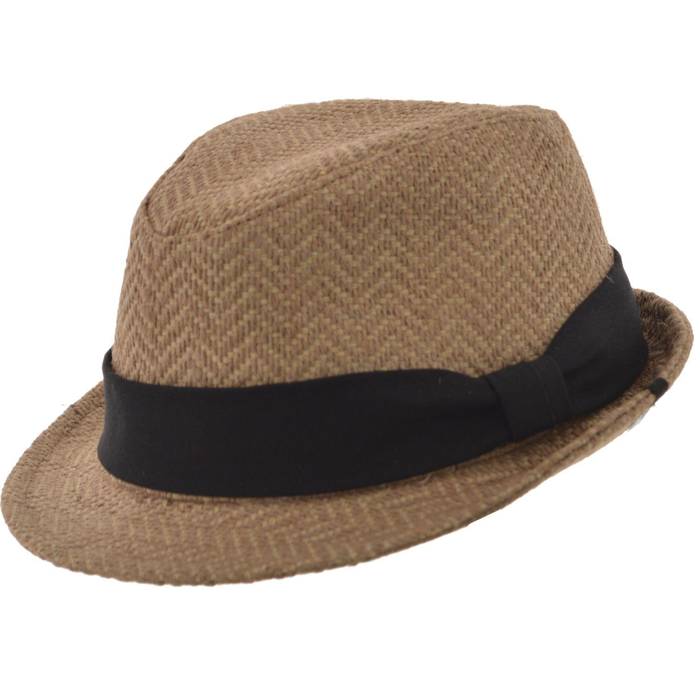 SOMBRERO RAFIA ZIGZAG CLASIC Sombrero de rafia natural Tejido artesanal  copa partida Ala 3 cm y 3a815ee0e26
