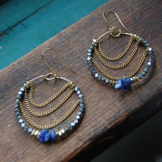 A Tutorial On How To Make Your Own Trendy Beaded Hoop Earrings