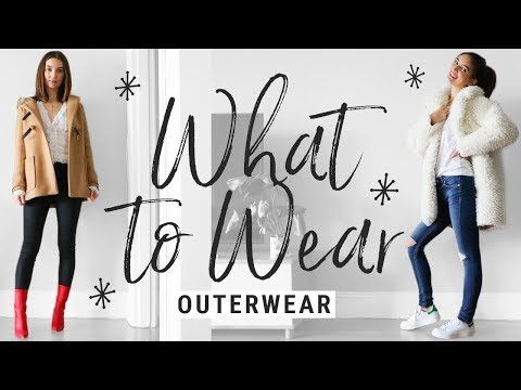 f1e169032ee1 how to style COATS/JACKETS!! WHAT TO WEAR with winter outerwear!! - YouTube