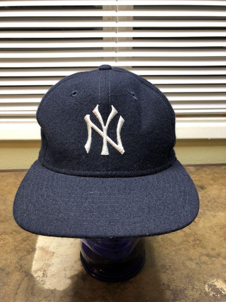 86c364669 Yankees Wool Hat Vtg 90s New York NY NYC MLB Baseball Sports ...