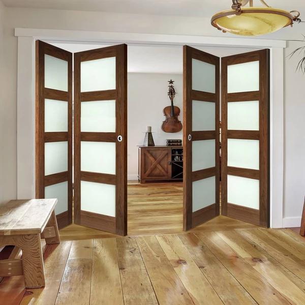 Walnut Folding Doors Sliding doors interior, Folding
