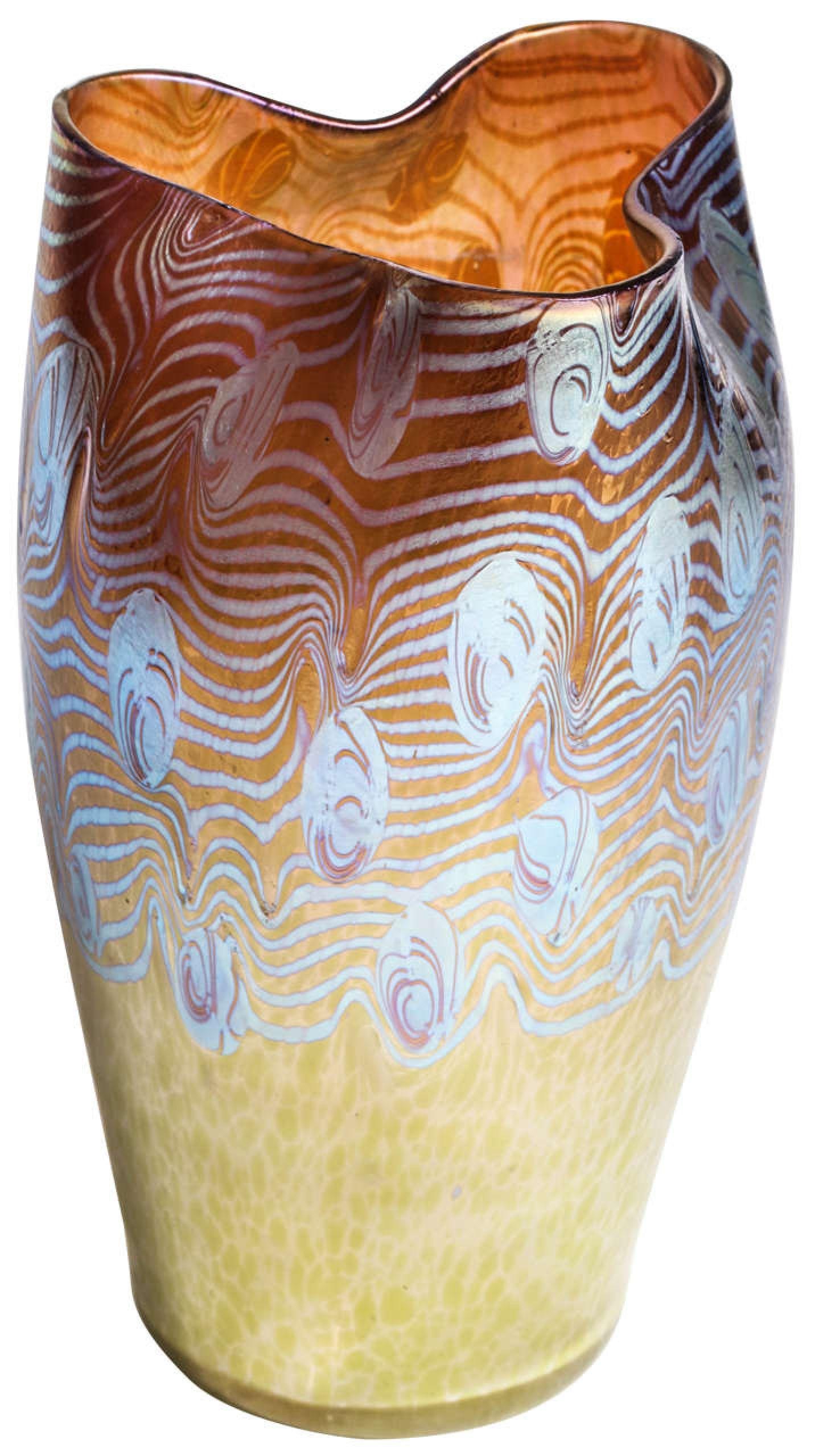 """Loetz Monumental """"Argus Phanomen"""" Vase"""