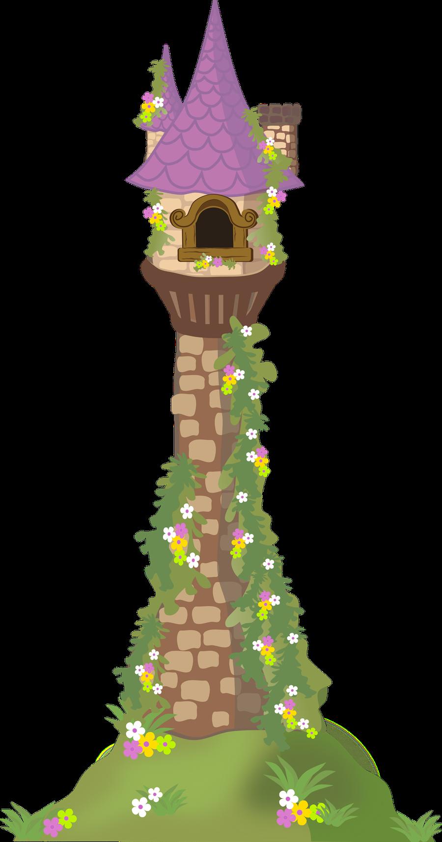 Tangled Rapunzel Tower Clip Art