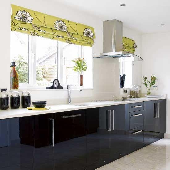Black Gloss Kitchen Kitchens Design Ideas