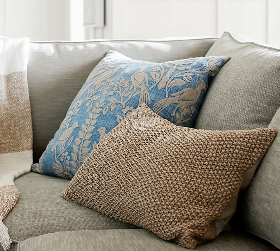 Robyn Embroidered Pillow Cover - mix with a textured neutral pillow for a fun punch of pattern and texture.