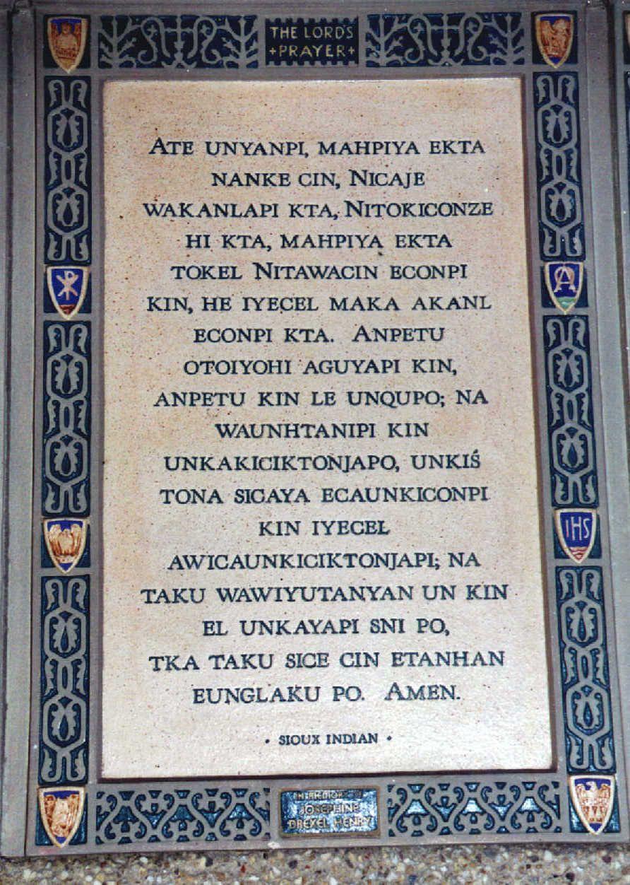 the lord u0027s prayer in dakota sioux writing pinterest sioux