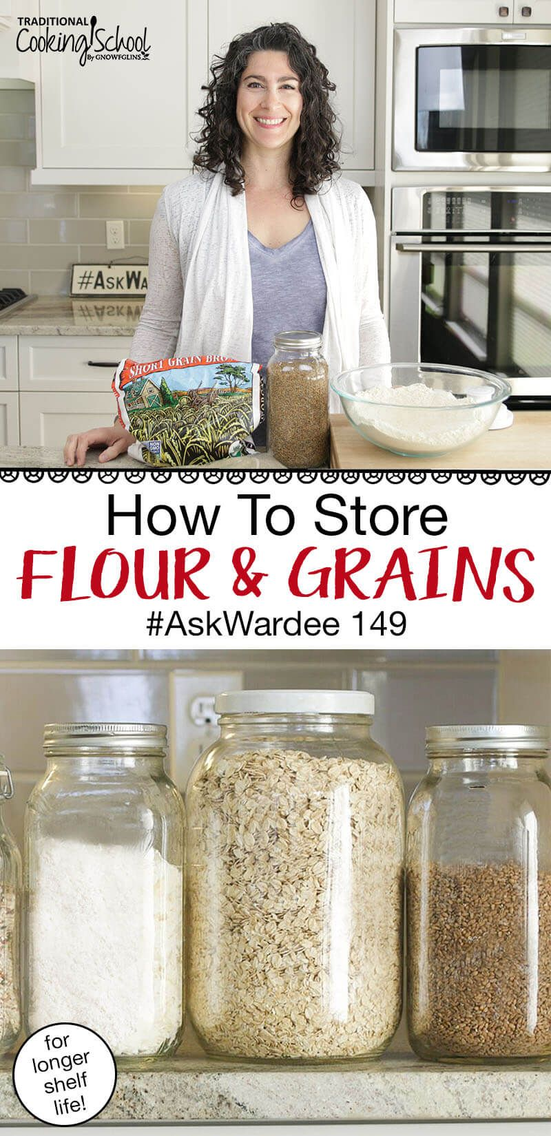 How To Store Flour Grains Askwardee 149 In 2020 Long Term