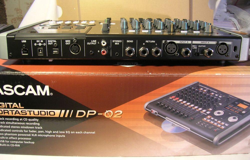 never used nos tascam dp 02 digital cd rw recorder portastudio w box manual nr tascam for. Black Bedroom Furniture Sets. Home Design Ideas