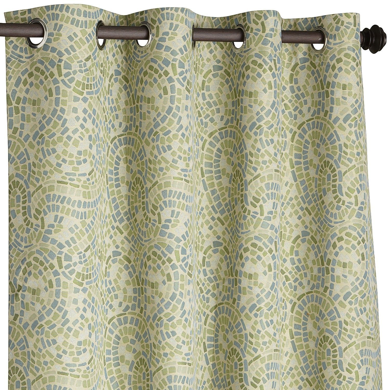 Paisley curtains pottery barn - Ocean Mosaic Paisley Curtain Curtain Example Depending On Fabric Choices