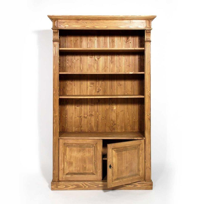 etagère bibliothèque bois massif