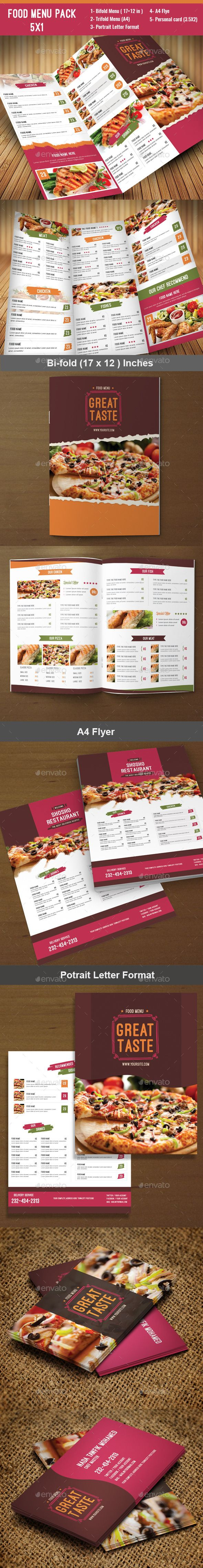 Food Menu Pack 7 | Branding y Inspiración