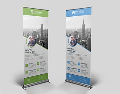 check out new work on my behance portfolio corporate roll up banner