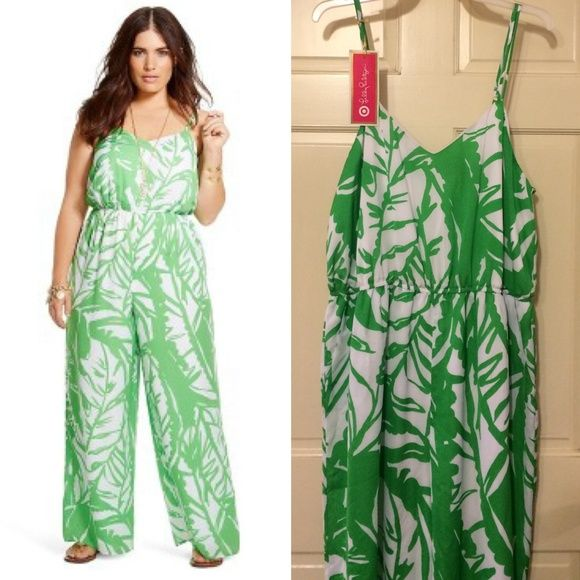 Lilly Pulitzer For Target Green White Jumpsuit 2XL NWT 2XL green ...