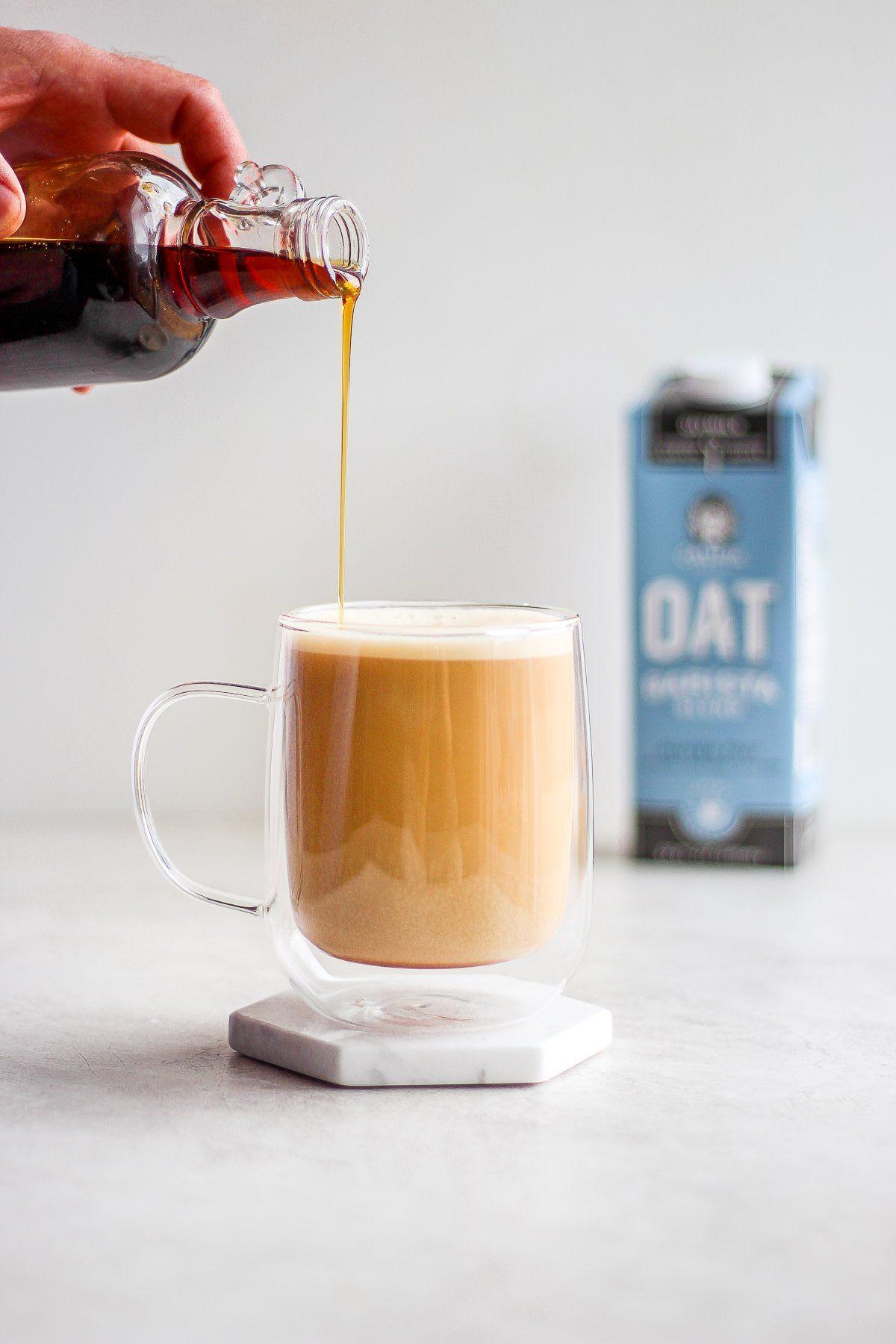 Creamy maple oat latte dairy free coffee dairy free