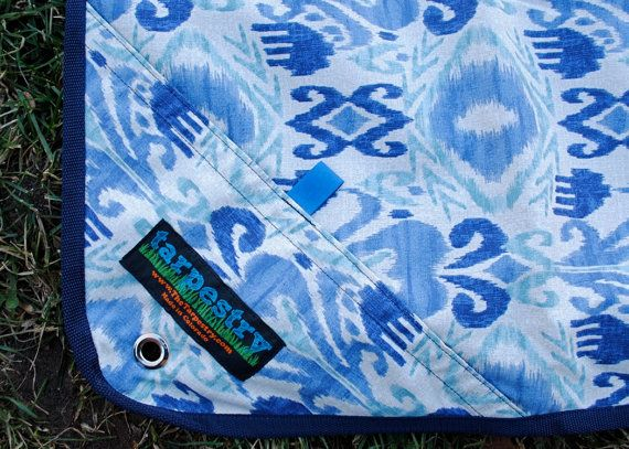 IKAT Sky  The Tarpestry is a weather-resistant by Tarpestry