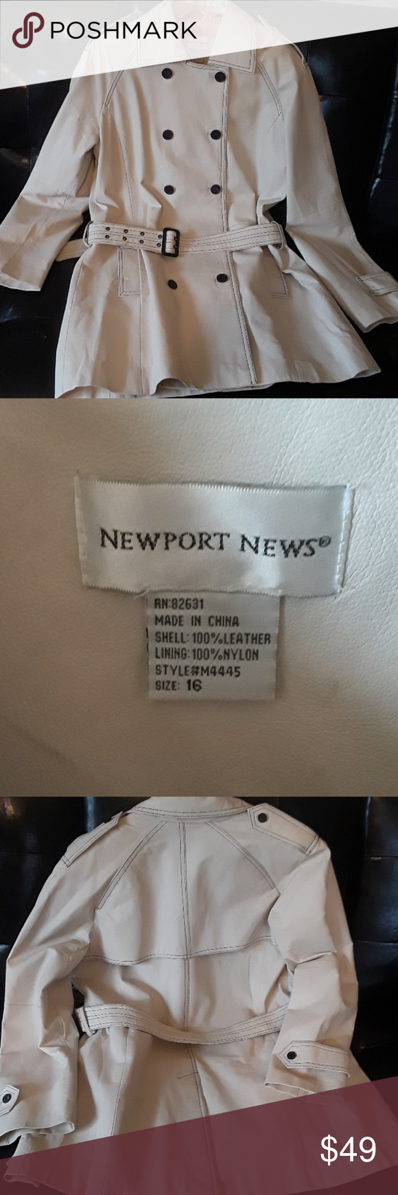 Newport News Cream Leather Coat With Images Leather Coat Clothes Design Fashion Tips