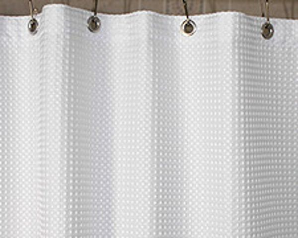 Waffle Outer Fabric Shower Curtains Modern Shower Curtains