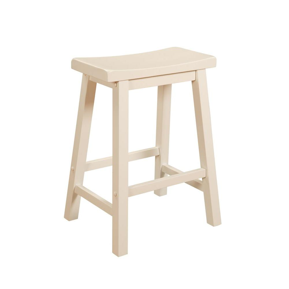 Powell Company 24 In Pure White Bar Stool 270 430 White Counter