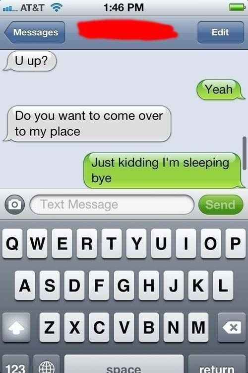 Do some sleep-texting: