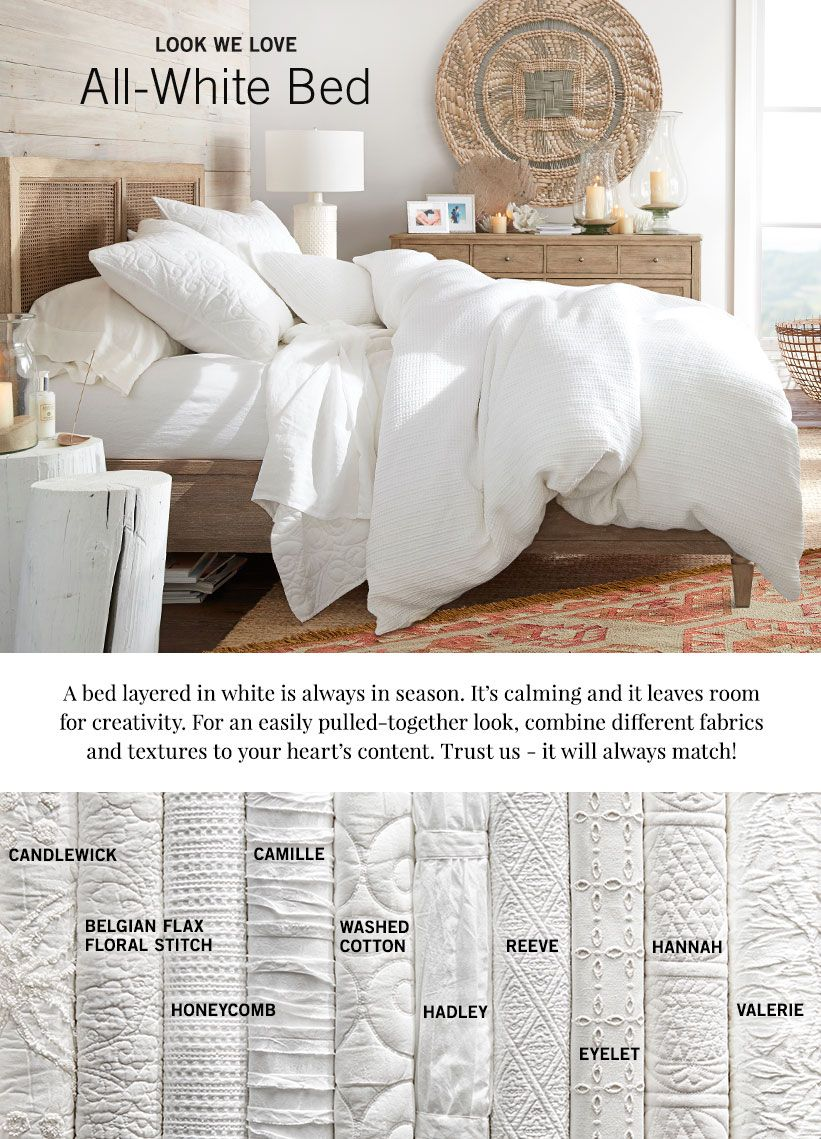 All White Bedding Pottery Barn Bedding Master Bedroom White