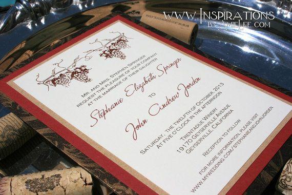 Invitaciones de boda Viña