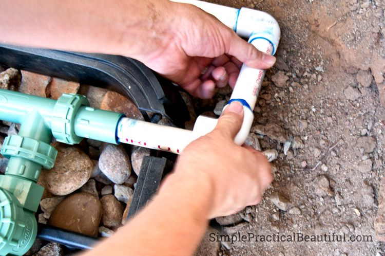How To Install Irrigation Valves Part 1 Of The Sprinkler System Irrigation Valve Sprinkler System Diy Lawn Sprinkler System