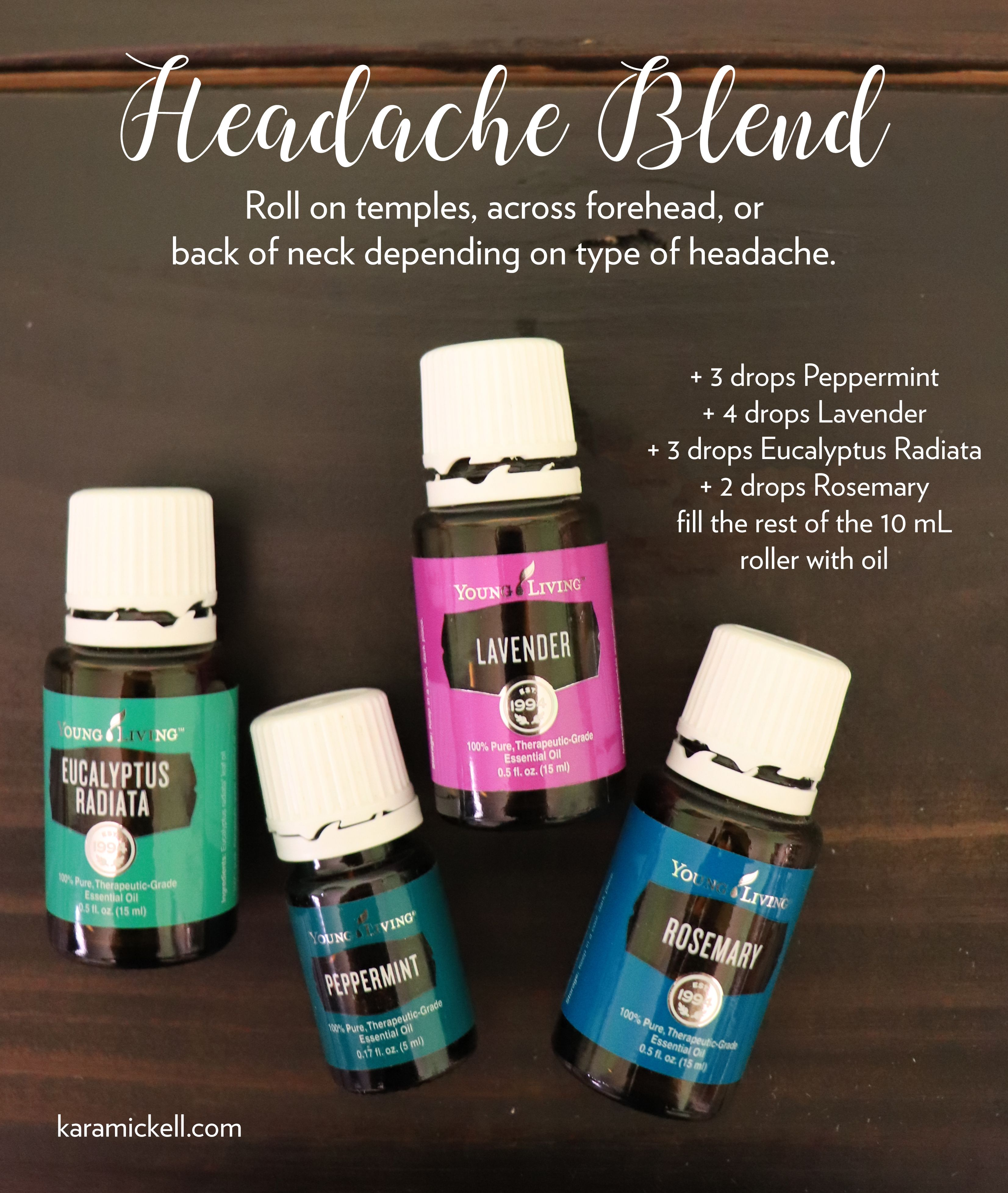 Headache Roller Blend Essential Oils For Migraines Essential Oil Blends Living Essentials Oils