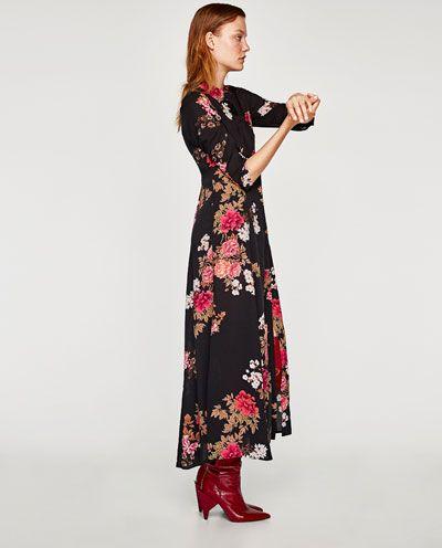 Vestido largo negro zara 2018