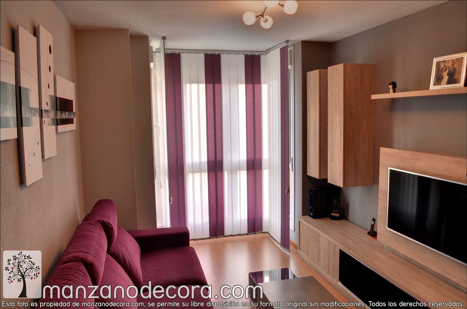 Detalle de cortina vertical de tejido http www - Cortinas de interior ...