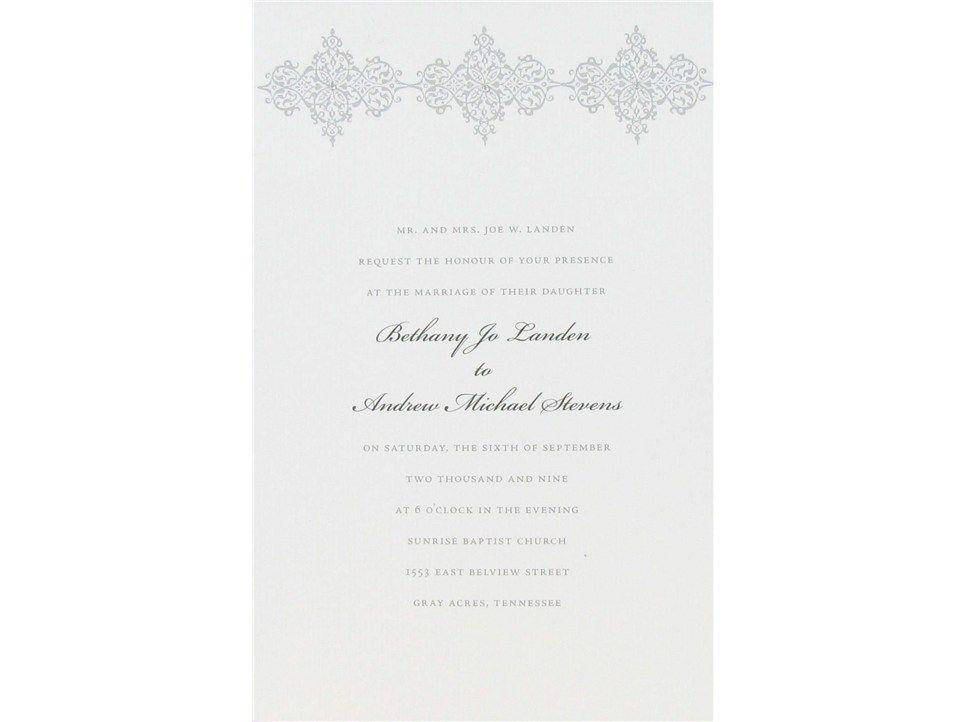 White Silver Damask Wedding Invitations Shop Hobby Lobby Wedding Invitation Shop Damask Wedding Invitation Silver Wedding Invitations