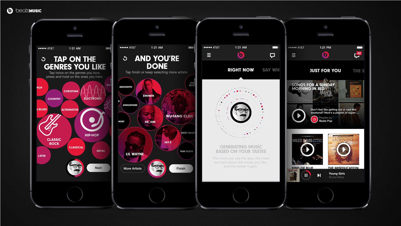 Beats Music | Music Streaming App Simple Graphics Interface Design