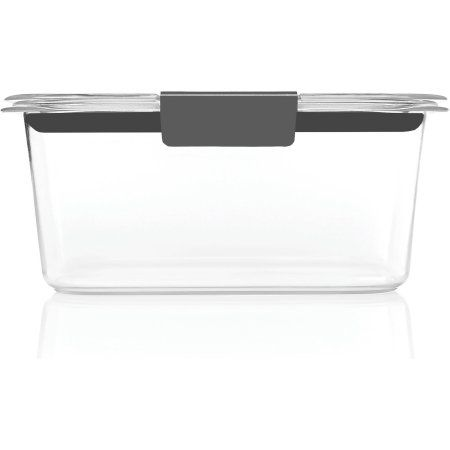 Rubbermaid Brilliance Food Storage Container Set 22 Piece Clear Delectable Rubbermaid Brilliance Medium Deep Container 10 Ct Clear  Walmart Inspiration
