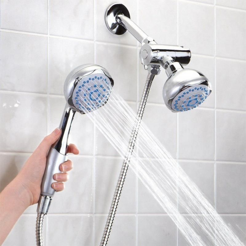 Shower Head Handheld and Fixed Shower Combo 6 Settings ABS Material ...