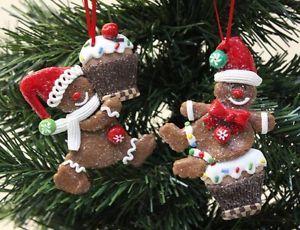 NEW Set Of 2 Gingerbread & Cupcakes Tree Hanger Festive Xmas Decoration