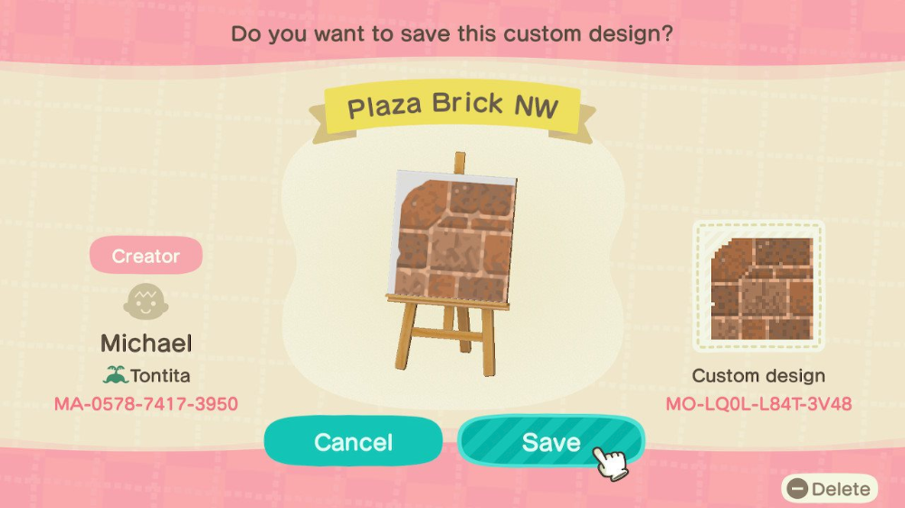 Brick Path Pattern For Animal Crossing New Horizons In 2020