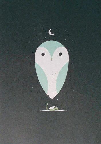 Barn Owl art print by Bee Things