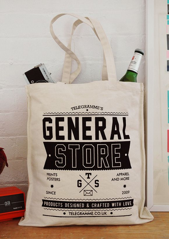 telegramme studio's general store tote bag | Package | Pinterest ...