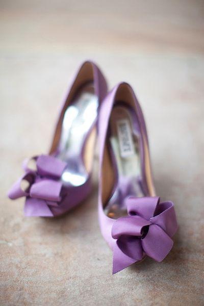 Purple wedding shoes, Ribbon shoes