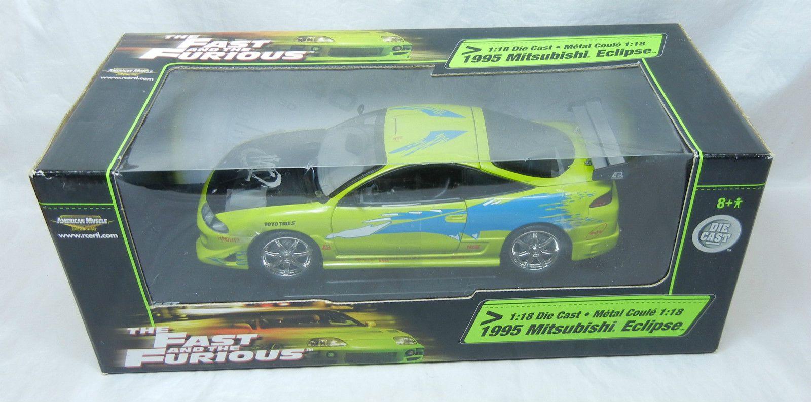 Mitsubishi Eclipse 1995 grün Brian Fast /& Furious Modellauto 1:18 Greenlight