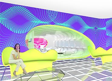 Draft by Karim Rashid for Deutsche Bank's VIP-Lounge at Art Cologne 2006