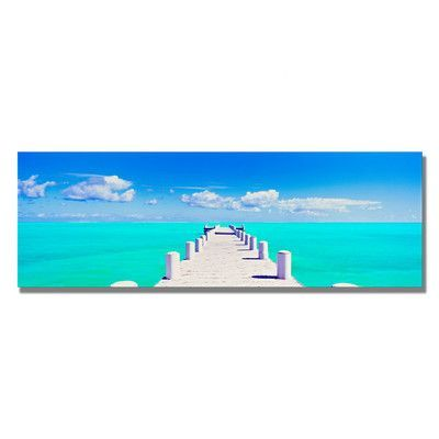 Beachcrest Home Pompano by Preston Photographic Print on Wrapped Canvas Size: 12'' H x 32'' W x 2'' D