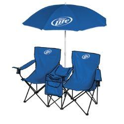 Miller Lite Dual W Umbrella Chair Dad Husband