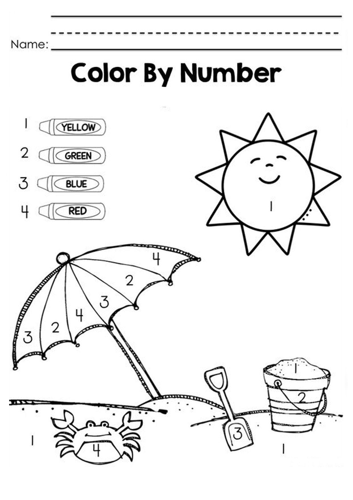 worksheet Color Blue Worksheets For Preschool