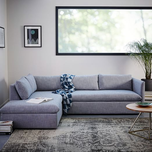 Shelter 2 Piece Terminal Chaise Sectional Deep Seated Sectional