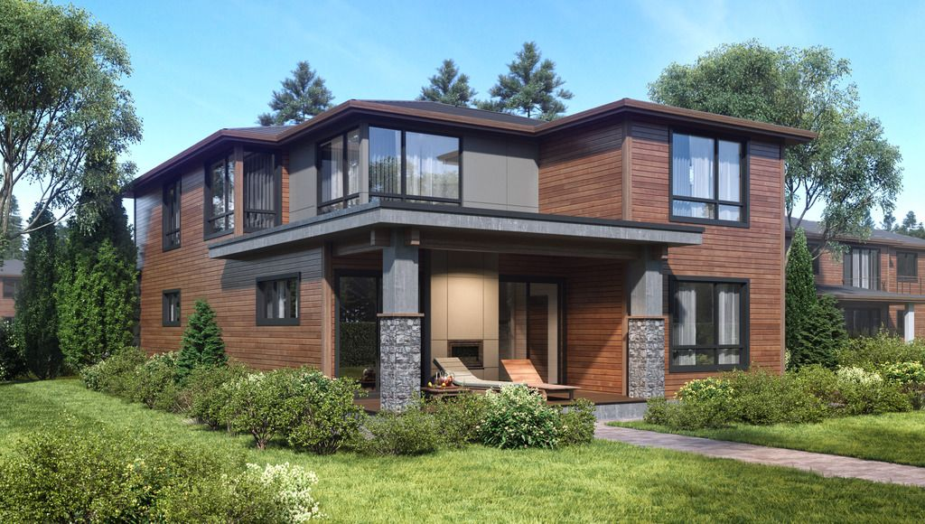Contemporary Style House Plan 4 Beds 3 5 Baths 3150 Sq Ft Plan 1066 50 House Plans Modern House Plan House With Balcony