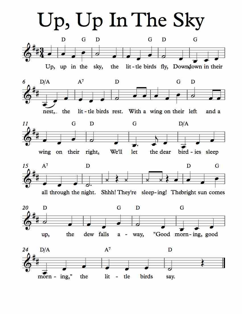 Free sheet music for up up in the sky childrens song enjoy free sheet music for up up in the sky childrens song enjoy hexwebz Image collections