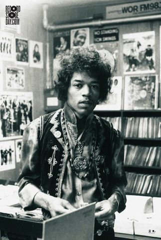 Musicians Hanging Out In Records Stores Jimi Hendrix Hendrix