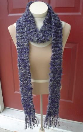 Kaya Thin Chunky Scarf2 Skein Different Colors 100 Acrylic 35